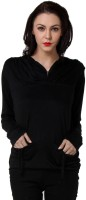 TeeMoods Casual Full Sleeve Solid Women's Black Top