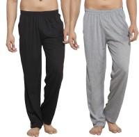 Alan Jones Solid Men's Grey, Black Track Pants
