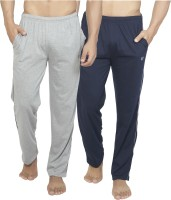 Alan Jones Solid Men's Dark Blue, Grey Track Pants