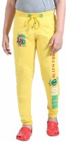 Red Ring Track Pant For Boys(Yellow)