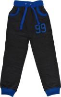 Crux & Hunter Track Pant For Boys(Black)