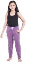 Red Ring Track Pant For Girls(Purple)