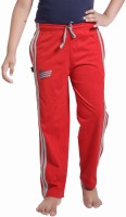 Red Ring Track Pant For Boys(Red)