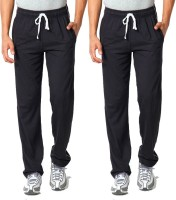 WellFitLook Cool TrackPant Solid Mens Black, Black Track Pants