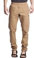 Beevee Solid Men's Beige Track Pants