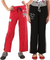 Menthol Track Pant For Girls(Red)