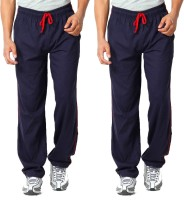 WellFitLook Cool TrackPant Solid Mens Blue, Blue Track Pants
