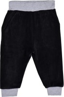 Lil Orchids Track Pant For Girls(Black)