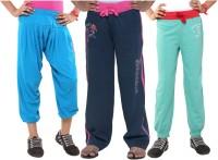 Menthol Track Pant For Girls(Multicolor)