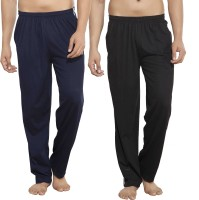 Alan Jones Solid Men's Dark Blue, Black Track Pants