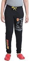 Red Ring Track Pant For Boys(Black)
