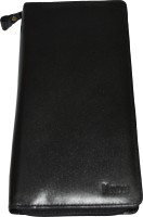 Knott Knott Premium Black Travelling Documents Holder With All Round Zip And Hand Strap(Black)