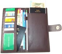 Star Leather Passport & Chequebook Holder(Brown)