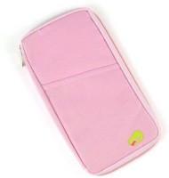 Everyday Desire Travel Passport Hoder Wallet Case with Zip for Credit Debit Card Ticket Coins Money Cash Currency Boarding Pass Pen Light Pink(Pink)