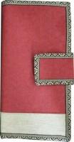Ecoraasta Passport Wallet(Red, Beige)