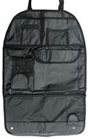 iStore Multi Pocket Car Back Seat Hanging Storage Bag Organiser(Black)