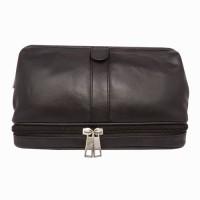 Chimera Leather 3608 Travel Toiletry Kit(Black)