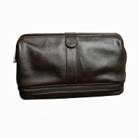 Chimera Leather 3608 Travel Toiletry Kit(Brown)