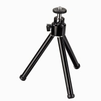 Power Smart Mini Stand Small Portable Metal Tripod For Camera Mobile Tripod Kit(Black, Supports Up to 200 g)