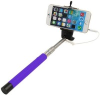 Casotec 269006 Wired Selfie????????????Stick Selfie Stick(Purple, Supports Up to 300 g)