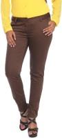 Park Avenue Skinny Fit Women's Brown Trousers