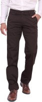 Dad Regular Fit Men's Brown Trousers