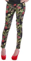 All About Eve Skinny Fit Womens Multicolor Trousers