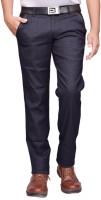 British Terminal Slim Fit Men Blue Trousers