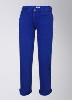 People Slim Fit Boys Blue Trousers