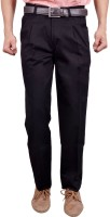 Studio Nexx Regular Fit Men's Black Trousers