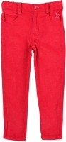 Beebay Regular Fit Girls Red Trousers