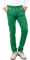 Uber Urban Rocky Slim Fit Men's Green Trousers