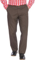 Parx Slim Fit Men's Brown Trousers
