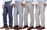 Toddy Regular Fit Men's Blue, Cream, Cream, Cream Trousers