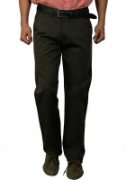 Studio Nexx Regular Fit Men's Dark Green Trousers