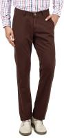 Uber Urban Punto Regular Fit Men's Brown Trousers