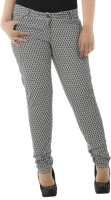 LASTINCH Regular Fit Women's Black, White Trousers