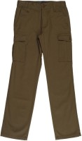 Indian Terrain Slim Fit Boys Brown Trousers