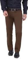Louppee Comfort Regular Fit Men Brown Trousers