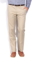 Louis Philippe Regular Fit Mens Beige Trousers