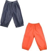 Addyvero Regular Fit Girls Dark Blue, Orange Trousers