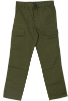 Flying Machine Regular Fit Boys Green Trousers