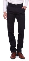 Dad Regular Fit Men's Black Trousers