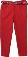Beebay Regular Fit Girls Maroon Trousers
