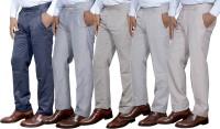 Toddy Regular Fit Men's Blue, Cream, Cream, Cream, Cream Trousers