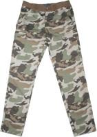Indian Terrain Regular Fit Boys Green, Brown Trousers