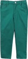 Beebay Regular Fit Girls Dark Green Trousers