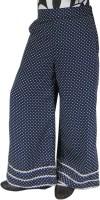 SSMITN Regular Fit Girls Dark Blue Trousers