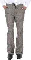 Reevolution Stripe Regular Fit Men's Black, Beige Trousers