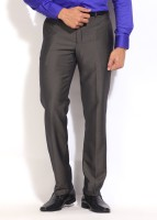 Park Avenue Slim Fit Men's Grey Trousers